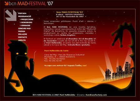 Web bcn MAD·FESTIVAL